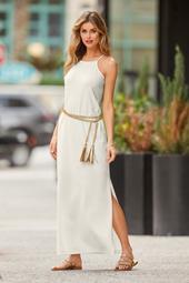Beyond Travel™ High Neck Maxi Dress