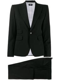 plain two-piece trouser suit
