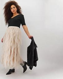 Joanna Hope Frill Mesh Skirt