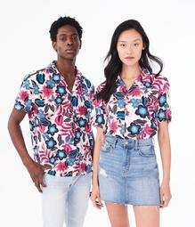 Aero One Wild Floral Button-Down Shirt