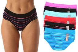 6P-33013-XXXL Just Intimates Boylegs / Panties for Women (Pack of 6) (Small)