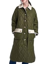 Barbour x Alexa Chung Annie Quilted Longline Jacket