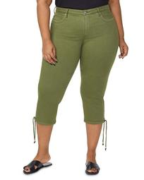 Capri Jeans with Drawcord Hem in Olivine
