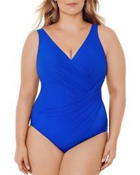 Plus Solid Oceanus One Piece Swimsuit