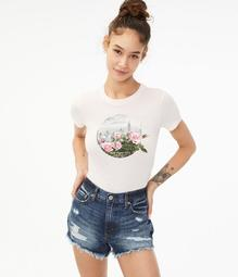 Floral Circle New York City Graphic Tee