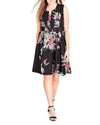 Misty Floral Print Belted Dress