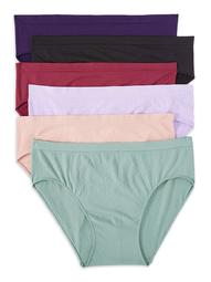 Secret Treasures Women's Plus Seamless Brief Panties, 12 Pack