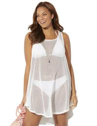 Swimsuits For All Women's Plus Size Cora High Low Cover Up Tunic
