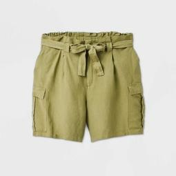 Women's Plus Size High-Rise Utility Bermuda Cargo Shorts - A New Day™