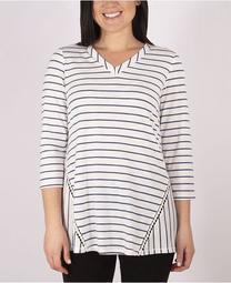 Women's Plus Size Slub Knit Top