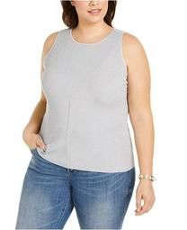 INC Plus Size Ribbed Tank Top, Created for Macy's