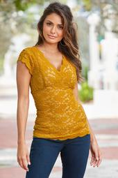 Lace Scalloped-Edge Top