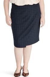 Checkered Midi Skirt (Plus Size)