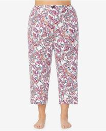 Women's Plus Size Cropped Pajama Pant