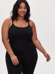 Black Wicking Active Scoop Neck Cami