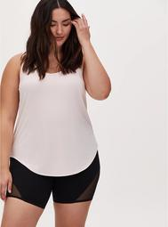 Light Pink Wicking Active Tunic Tank