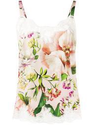 lace trim floral camisole