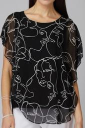 Sheer Over;lay Faces Tunic