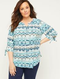 Marina Signature Crepe Buttonfront Top
