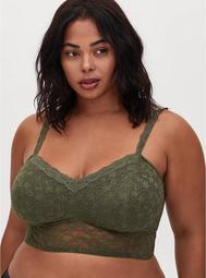 Light Olive Green Lace Lightly Padded Bralette