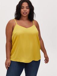 Sophie - Yellow Textured Charmeuse Swing Cami