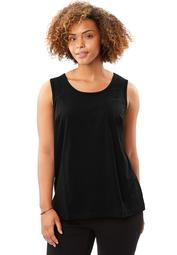 Woman Within Women's Plus Size Perfect Scoop-Neck Tank