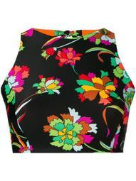 floral print halter bikini top