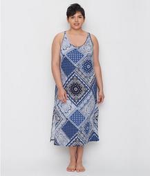 Plus Size Bandana Knit Ballet Gown