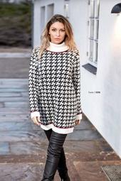Patterned Turtle Neck Sweater