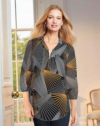 Together Zipper Front Blouse