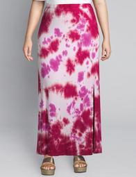 Tie-Dye Pull-On Midi Skirt