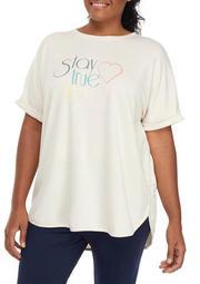 Plus Size Graphic Round Hem T-Shirt