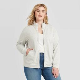 Women's Plus Size  Zip-Up Sweatshirt - Ava & Viv™
