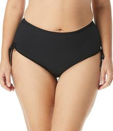 MICHAEL Michael Kors Plus Iconic Solids Shirred Hipster Tummy Control Swimsuit Bottom