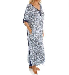 Ellen Tracy Blue Wave Long Caftan 8922936