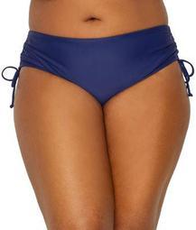 24th & Ocean Womens Plus Size Solid Side Tie Bikini Bottom Style-TF8L895W