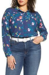 Button-Up Blouse (Plus Size)