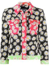 daisy print bomber jacket