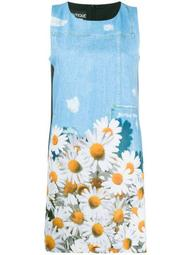 daisy print shift dress