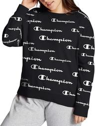 Champion Womens Plus Campus French Terry Crew
