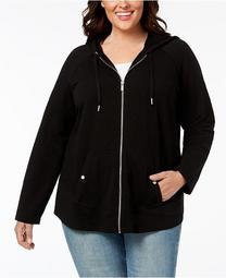 Plus Size Hooded Jacket, Created for Macy's