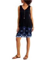 Plus Size Printed Sleeveless Dress, Created for Macy's