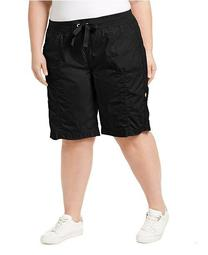 Plus Size Woven Active Shorts