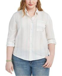 Plus Size Striped Shirt, Created for Macy's
