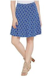 Printed Liquid Knit 8 Gore Pull-On Skort