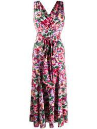 floral print tie waist dress
