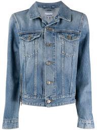 zip detail denim jacket