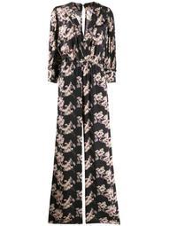 floral v-neck gown