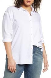 Linen Blend Button-Up Shirt
