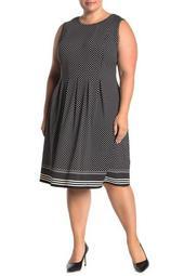Sleeveless Pleated Jersey Dress (Plus Size)